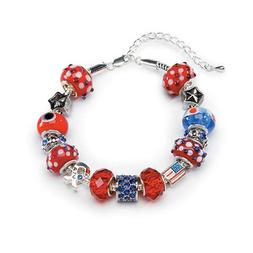 MIX AND MINGLE METAL LINED BEADS BRACELET KIT-PATRIOTISM-EUR
