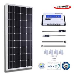KOMAES 100 Watts 12Volts Monocrystalline Solar Panel With En