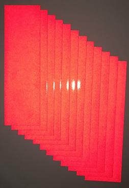 Motorcycle ATV Ruby Red Reflective Adhesive Vinyl Tape 12 Sh