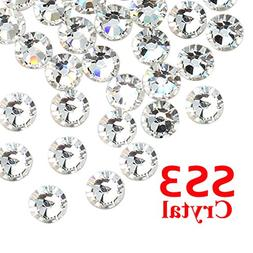 Nail Art Rhinestones,1440pcs/lot SS3 Crystal Clear Top Quali