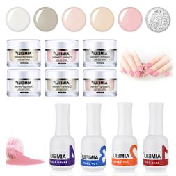 AIMEILI Nail Dipping Powder Starter Kit 4 PCS Clear Liquid 6
