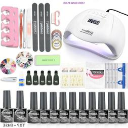 Nail Gel Polish Uv Lamp Led Ur Sugar Kit Dryer Set Bottles S