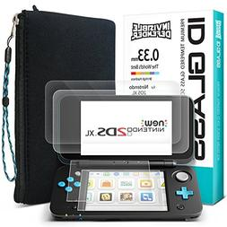 New Nintendo 2DS XL Full Protective Starter Kit Screen Prote