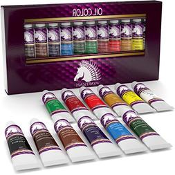 Oil Paint Set - 12ml x 12 Tubes - Artists Quality Art Paints