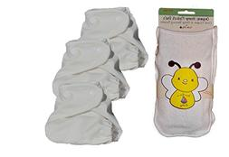 Kashmir Baby 3 Pack Organic Hemp One Size Cloth Diapers & 3