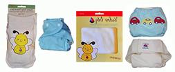 Kashmir Baby 3 Pack Bundle Organic One Size Cloth Diapers &