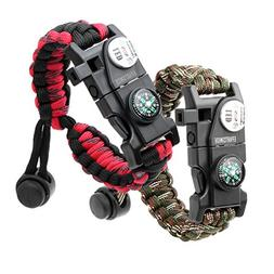 Paracord Bracelet, Survival Bracelet,20 in 1 Survival Gear K