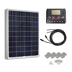 HQST 100 Watts 12 Volts Polycrystalline Solar Panel Off-Grid