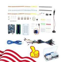 Professional UNO R3 Starter Kit DIY For Arduino LCD LED Brea
