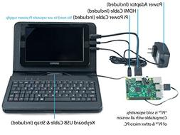 """Tempus® Raspberry Pi 7"""" LED Backlit LCD Monitor with Leathe"""