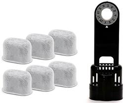 6 Pack Replacement Charcoal Water filter Cartridges with Sta