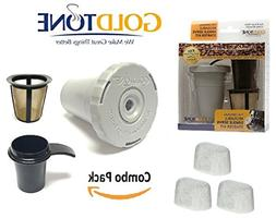 GoldTone Brand Reusable Single Serve Starter Kit for Keurig