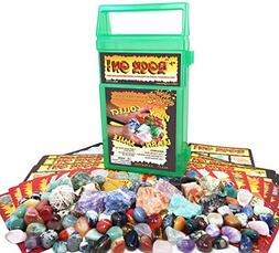 ROCK ON! Geology Game with Rock & Mineral Collection – Col