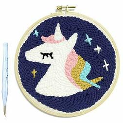 Royal Legit +x Unicorn Punch Needle Starter Kit Animal Rug-P