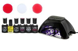 Uv-Nails Best Salon Quality UV Gel Polish Starter Kit with L