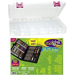 Art Set and Case Combo - Bundle Includes Darice 120-piece De