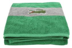 Lacoste Signature Croc Fomula Bath Towel , Green