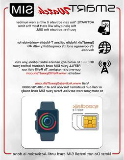 Smartwatch SIM Card Starter Kit - No Contract for  4G Smart