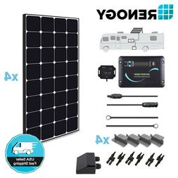 Renogy 400W 12V Eclipse Solar Panel RV Kit Off Grid Camper V