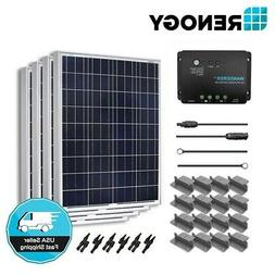 Renogy 400 Watt Solar Panel Kit 400W 12V Off Grid Battery Ch