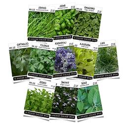 Sow Right Seeds - Herb Garden Seed Collection - Arugula, Bas