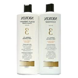 Nioxin System 3 Cleanser Liter 33.8 oz & Scalp Therapy Liter