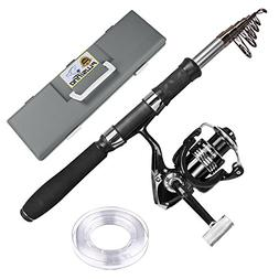 PLUSINNO Telescopic Fishing Rod and Reel Combos with Fishing