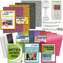 Cricut Tools Bundle Beginner Cricut Guide, Vinyl Pack, Basic