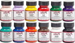 Angelus Leather Paint Starter Kit 1 Set of 12 bottles-1oz bo
