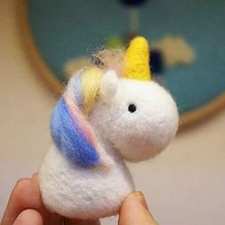 Wool Queen Unicorn Needle Felting Kit Beginner Starter Kit F