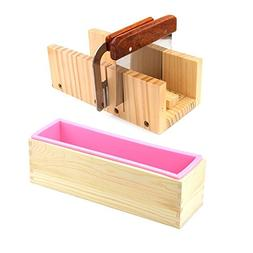 ESA Supplies Wooden Soap Loaf Cutter Mold and Soap Cutter Se